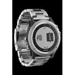 Спортивные часы FENIX 3 HR серебряный с титановым браслетом