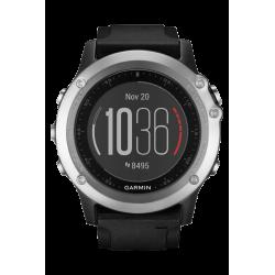 Спортивные часы FENIX 3 HR серебряный с черным ремешком
