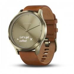 Споривные часы VIVOMOVE HR золотые со светло-коричневым кожаным ремешком